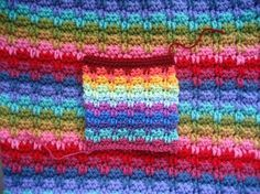 Tutorial for Raindrop Stitch, by Lucy of Attic24.  This is a series of drop DC stitches (*Note: she uses U.K.terms), which are really quite simple.  As Lucy's usual, there are very detailed instructions & plenty of photos.   #crochet #stitch
