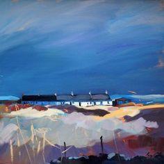 Scottish Artist Pam CARTER-Last Light On The Row