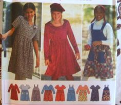 SIMPLICITY SEWING PATTERN - 9774 7-14 GIRLS JUMPER