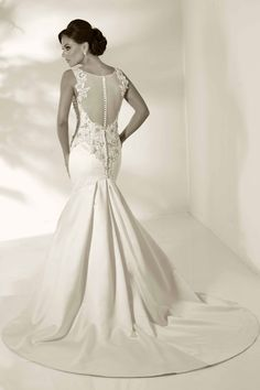 Mermaid Wedding Gown with Illusion Back by Cristiano Lucci