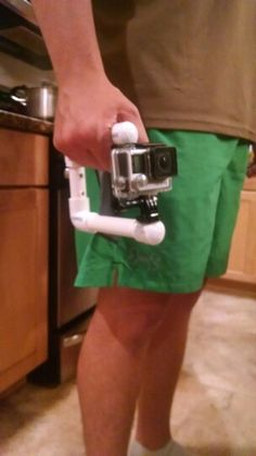 DIY GoPro handle  Made out of PBC                                                                                                                                                      More