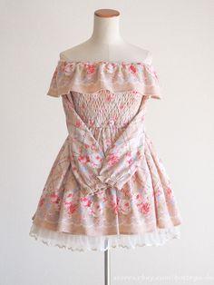 LIZ LISA Winter Off shoulder OP Dress Floral Hime gyaru Lolita Size0 Japan #LIZLISA #PeplumTunic #Party