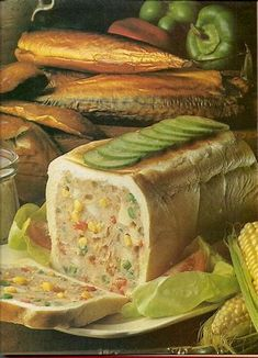 Mackerel and Tuna Picnic Loaf by Jello Kitty, instant appetite assassin. Jello Recipes, Old Recipes, Vintage Recipes, Baking Recipes, Gross Food, Weird Food, Bad Food, Scary Food, Funny Food