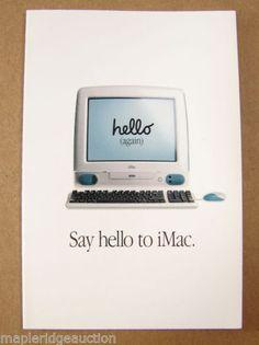 Vintage-Apple-Computer-Original-iMac-G3-Brochure-1998-Think-Different-Bondi-Blue
