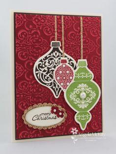 Ornament Keepsakes stamp set, Holiday Ornaments Framelits Die