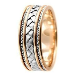 Jewelry Point - Handmade Braided 14k 2 Tone Gold Wedding Band Comfort, $599.00 (http://www.jewelrypoint.com/handmade-braided-14k-2-tone-gold-wedding-band-comfort/)