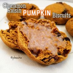 Ripped Recipes - Cinnamon Raisin Pumpkin Biscuits - Youuuuuu want to make this. Trust me. Soft, fluffy cinnamon raisin pumpkin biscuits that also toast up perfectly like English muffins.