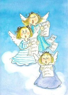 Postcrossing postcard from Finland Christmas Illustration, Cute Illustration, Stick Figure Drawing, Angels In Heaven, Heavenly Angels, Angel Cards, Christmas Drawing, Guardian Angels, Whimsical Art