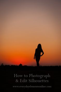 I've been wanting to try this with the kids!  Awesome tutorial on Photographing and Editing Silhouettes
