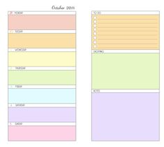 2014 printable week on one page and to do list planner by JuLouGee, £7.00