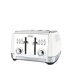 Breville Strata matt white 4 slice toaster VTT762 | Debenhams