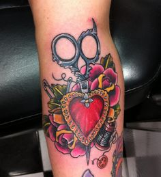 Beautiful scissors tattoo