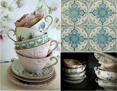 My Colour Blue: the love of old cups & patterns