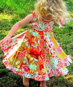 Girls Twirly Dress Amy Butler Dress by vintage243 on Etsy, $68.00
