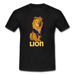LION Magliette Maglietta da uomo T-shirt con taglio classico, da uomo, 100% cotone, marca: B&C   Dettagli Raffigurazione di un leone in vettoriale. PREZZO: 29,40 €  #VECTOR #TSHIRT #DRESS #STYLE #customized