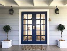 French Door Decor Entrance Front Porches 59 Ideas For 2019 French Door Decor, French Doors Patio, Patio Doors, Front French Doors, Double Doors, Front Door Entrance, House Entrance, Entry Doors, Front Doors