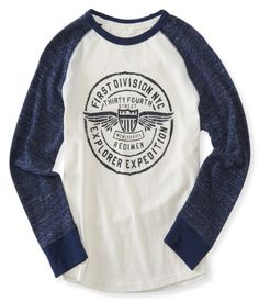 Kids' Long Sleeve First Division Raglan Tee - PS From Aéropostale®