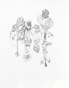 Jasper Sebastian Stürup. The Tip Of The Iceberg. Ink on paper.