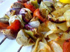 Συνταγές με μελιτζάνες - Souvlaki melitzana - vegan σουβλάκι - YouTube