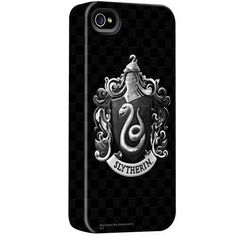 One of my favorite discoveries at HarryPotterShop.com: Harry Potter Black and White Slytherin Crest iPhone Case