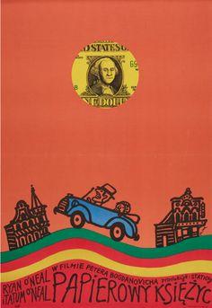 Polish Poster by Jerzy Flisak, 1973, Paper Moon directed by Peter Bogdanovich.