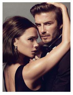 Melanie-   Victoria and David Beckham Steam Up Vogue Paris January 2014 #Endorsement #Celebrity trendhunter.com