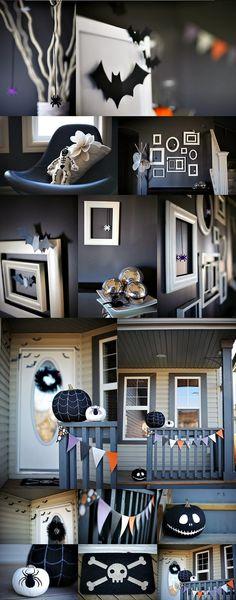 ¿ Quereis decorar vuestra  casa para Halloweende una forma elegante en blanco y negro ? Aquí os traigo unas cuantas inspiradoras ideas....