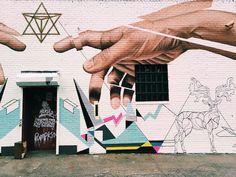 Street art murals in Williamsburg, Brooklyn