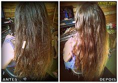 Remoção de alguns dreads na cabeleira de Bibiana de Guaíba - RS