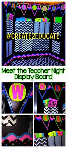 Meet the Teacher Night display board to hold all the paperwork to be filled out. #meettheteacher #openhouse