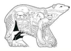 Alaska Coloring Page | Alaska Critters Coloring Book by Sue Coccia - Click Image to Close
