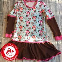 Unser liebster Schnitt für Kleider - Herbstkombi von Lilesoll und Pelle (Mädchenkleidung, Langarmkleid)