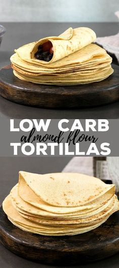 These low carb tortillas are made with just the right blend of almond and coconut flours, and the dough is amazingly easy to handle. With less than 2 net carbs per tortilla, they're going to be your new favorite gluten free tortilla!