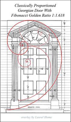 classically proportioned Georgian door with Fibonacci Golden ratio