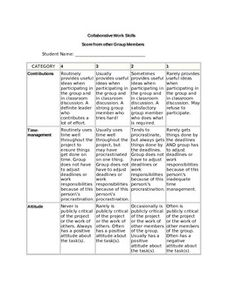 Rubric for Collaborative Work Projects by Night Owl Creations by Stacy Fleming | Teachers Pay Teachers