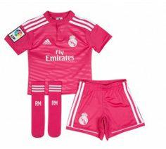 Conjunto niño adidas segunda equipación Real Madrid 2015 db63850842a59