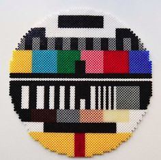 All right stop: Hama time! Testcard in Hama perler beads // A whole Lotte love Hama Coaster, Hama Beads Coasters, Diy Perler Beads, Art Minecraft, Skins Minecraft, Minecraft Crafts, Modele Pixel Art, Art Perle, Tapestry Crochet Patterns