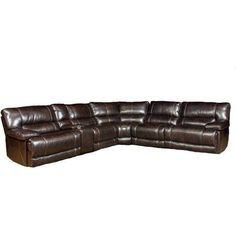 Hanover Lexington 6-Piece Sectional: Left and Right Reclining Arm Chairs, Armless Chair, Wedge, Armless Recliner and USB Console $2799