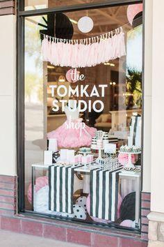 Tomkat Studio Shop beautifully executed #storewindow #visualmerchandising