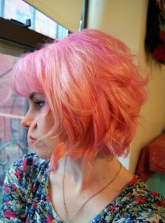 Dusty pink hair love this short style x