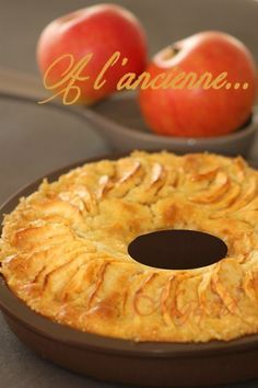 Gâteau aux pommes à l'ancienne.