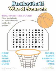 Printable Basketball Word Scramble Game | Brownies | Pinterest