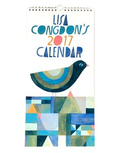 Hey, I found this really awesome Etsy listing at https://www.etsy.com/uk/listing/248979231/lisa-congdon-2017-wall-calendar-limited