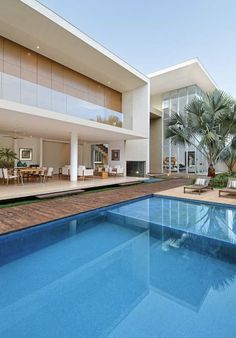 Stunning Modern Mansions – Modern Home Dream Home Design, Modern House Design, Modern Mansion, Dream Pools, House Elevation, House Goals, Modern Architecture, Luxury Homes, Mansions