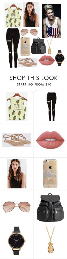"""Horan"" by osbely ❤ liked on Polyvore featuring WithChic, Topshop, Lime Crime, REGALROSE, Agent 18, H&M, Olivia Burton and Rachel Jackson"