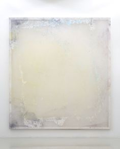 Jeremy Everett: Proof - Yellow 2014 Print Oil and watercolour on silk 210 x 190 cm