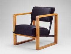 Designer: Josef Albers, American, born Germany, 1888-1976. Manufacturer: Bauhaus Workshop, German, 1919-1933. Armchair, c. 1927