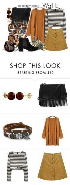 """Wall-E"" by leslieakay ❤ liked on Polyvore featuring Splendid Pearls, White House Black Market, BillyTheTree, Disney, Glamorous, disney, disneybound and earthday"