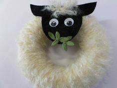 Návod na velikonoční věnec - ovečka 12