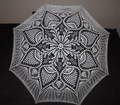 Brand New Crochet Umbrella 39 Parasol by BeautyIsPower on Etsy, $70.00